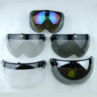 Wholesale snap cascos vintage helmet lens visor glasses retro helmet shield bubbles shield eye protector