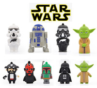 animal flash drives - Hot Sell GB GB GB GB GB GB USB Drive Best Gift Pen Drive USB Flash Memory Pen Drive STAR WAR Cartoon Shape USB Flash Drive