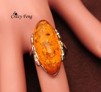 amber bands - New Arrival Jewelry ellipse Amber Wedding Bands Rings For Bridal Jewelry Crystal Party Gifts Size8