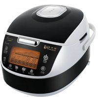 rice cooker - 14 functions rice cooker stainless steel housing with timer and super big LED displayer non sticker coating inner pot