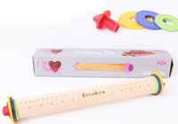 adjustable rolling pin - Wood Adjustable Rolling Pin Fondant Rodillos Reposteria Multifunction Baking Stick Scale Surface Thickness Adjustable Cake Tools