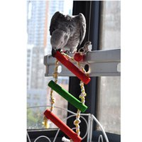 Wholesale Parrot Pet Colorful Climbing Ladder Wooden Swing Chew Toys Fun for Bird Playing Gifts on Cage