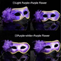 Wholesale Beautiful masquerade masks for girls women in party mix mask with a flower fashionable masquerade party masks for