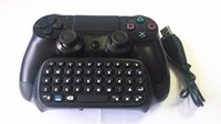 Cheap Dropshiping Black Bluetooth Mini Wireless Chatpad Message Keyboard for Sony Playstation 4 PS4 Controller