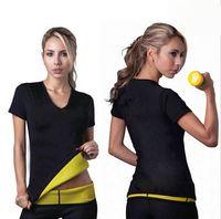 ladies body shapers - Hot Shapers Neoprene Body Shaper shirts women sports shirts Cinchers Yoga corsets women Slimming Bodysuit lady Body Shaper LJJD2868
