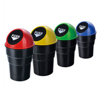 Wholesale New Mini Office Home Vehicle Car Trash Rubbish Bin Can Garbage Dust Case Holder