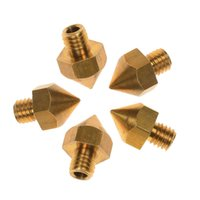 Cheap Wholesale - M6 3D Printer Accessories Nozzle for Ultimaker 3.00mm ABS PLA 3D Printer 0.2mm-0.5mm 5pcs lot