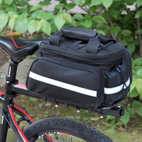 Wholesale Waterproof Cycling Bag Bicycle Bike Rear Seat Trunk Bag Handbag Pannier Front Messenger for Camera Holder black extendable bag