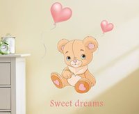 baby boy graphics - Carton d cute bears weet dreams home decorations Wall Stickers Baby Room Wall dacals for girls boys ZY036