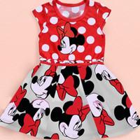 big baby bottles - 2015 Newest Summer Baby Girls Cartoon Big Polka Dot Tank Princess Dresses Kids Cotton Sundress Brand Party Dress Children Clothes SZ A02
