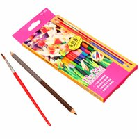 artist oil colors - Promotion Price Colors Wood Double Heads Art Drawing Oil Base Pencil For Artist Sketch School