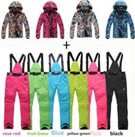 Wholesale Fashion cheap snowboard men skiing suit sets waterproof amp windproof warm snow clothes ski sets jackets and pants for men