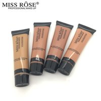 Wholesale ml fond de teint Makeup Liquid Foundation Concealer Cream Moisturizer Oil control Waterproof Brand Cosmetics By Miss Rose