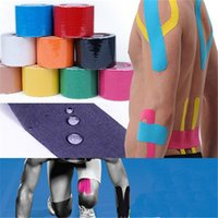 Wholesale 5cm m Elastic adhesive bandages cotton kinescio tapping for wrist and knee protecting sports supplies and retail