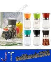 best pepper grinders - High Quality Best selling Glass Pepper set Salt Herb Spice Hand Grinder Mill manual pepper mill MYY10527A
