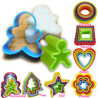 bake sale cookies - Hot Sales Kitchen Dining DIY Bakeware Baking Cookies Cutter Moulds Plastic Cake Biscuit Decorating Mixed Colors CX376