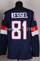 Cheap #81 Phil Kessel USA Jersey,2014 Team USA Olympic Ice Hockey Jersey,Best quality,Embroidery Logos,Authentic Jersey,Size M--XXXL