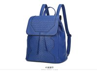 Wholesale woven pu leather backpack weave daily backpack yoga crossbody intrecciato leather drawing string bag sport travel backpack aibao