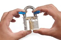 Wholesale 2015 Hot Pick Cutaway Inside View Padlock Lock For Locksmith Practice Training Skill Learning Tool With Keys