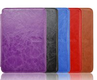 Wholesale Original LED leather cover case built in Lighted protective leather cover folio case for Amazon kindle kindle ereader