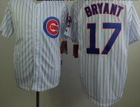 Wholesale Newest Cubs Kris Bryant Baseball Jerseys White Pinstraped Baseball Shirts Cheap Mens Uniforms Hot Sale Sports Team Jersey for Cheap