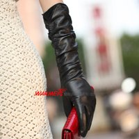 Wholesale Free by DHL EMS WARMEN Long Sleeve Sexy Black Warm Woolen Winter Gloves For Women Mittens Driving Cycling Chirstmas Gift