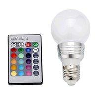 bar boutique - Boutique Color Changing LED Light Bulb with Remote Control for Bar Restaurant House Festival Decoration E27 W