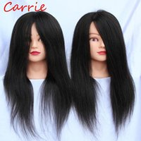 Wholesale High Quality Human Hairdressing Doll Heads Training Mannequin Head Hair with Free Clamp