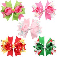 Wholesale Grosgrain Ribbon HairBow Baby Hairbows Girl Hair Bows With Clip Kids Hair Accessories colors good quality G230
