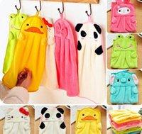 Wholesale Cute kids Animal Microfiber Kids Children Cartoon Absorbent Hand Dry Towel Lovely Towel For Kitchen Bathroom Use