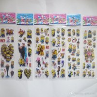 Wholesale Minions Big Hero Sticker D Cartoon party Decorative book Stickers Elsa Anna minions paper game Children gift toys p HOT6