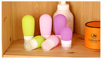 best shampoos - Best price Travel silicone emulsion points bottling suit portable shower shampoo cosmetic airless Creative candy cosmetic bottles
