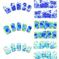 nail tattoo sticker - 12Sheets Price Beautiful Mixed Style New Peacock Floral Leopard Print Nail Art Decals Water Transfer Nail Stickers Tattoo