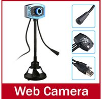 Wholesale 0308 Brand USB HD Night Vision Webcam Web Cam Camera Webcamera With Microphone Sucker Stand For PC Computer Laptop Notebook