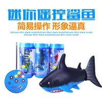 Wholesale The new hot mini small sharks new coke remote underwater shark toy for children