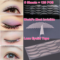 Wholesale 2015 New World s Most Invisible Double Eyelid Tape Breathable Lace double eyelid sticker Shaper Sheets