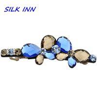 ban clip - Upscale boutique hair accessories Austrian crystal top folder Korean bow hairpin spring clip Miss Han Ban brand