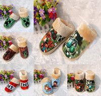 Wholesale 40pair styles Minecraft warm shoes winter House Slippers men and women plush Cotton slippers TT42314432147 HX