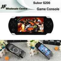Wholesale Subor S200 Inch HD Screen Handheld Game Consoles Portable Games Player Camera Record MP3 MP4 Music Players TV Out TF Card Video Games