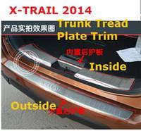 Wholesale Rear Bumper Protector Tail Tailgate Trunk Guard Sill Plate Scuff Trim For Nissan X trail X Trail Rogue T32