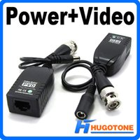 Wholesale Hot Selling PVD A UTP Network Power Data Video Balun CAT5 to Camera CCTV BNC DVR
