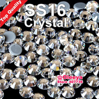 Wholesale Best Quality Hot Fix Rhinestone More Shiny More Brigst hotfix stones Crystal ss16 gross bag With glue Y2795