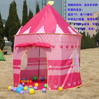 other baby games kids - Ultralarge Children Beach Tent Baby Toy Play Game House Kids Princess Prince Castle Indoor Outdoor Toys Tents Christmas Gifts