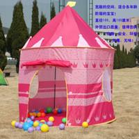 al por mayor cabrito casa tienda de campaña-Ultralarge Niños playa tienda de campaña, bebé juguete juego casa de juegos, los niños princesa príncipe castillo interior juguetes al aire libre carpas regalos de Navidad