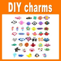 Cheap PVC Pendant Charms Rainbow Loom DIY Materials Small Pendant Rubber Loom Band Bracelet Knitting Accessories 1705007