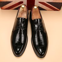 bespoke shoes - men shoes luxury brand patent leather glossy dress shoes unique bespoke shoes men ballerina flats footwear oxford shoes for men