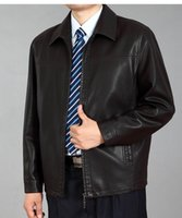 Wholesale new middle aged men leather leather jacket NO