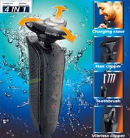 Wholesale 4 in set shaver D electric washable shaver Hair clipper Toothbrush Vibrissa clipper electric razor trimmer