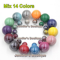 channel - Mix Colors New Arrival Double Sided cc Stud Earrings Channel Earrings Double Ball cc Earrings