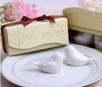 Wholesale 100pcs Newest wedding favor Love Birds Salt and Pepper Shaker Party favors for wedding gift
